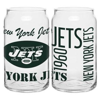 New York Jets 16-Ounce Glass Spirit Glass Set