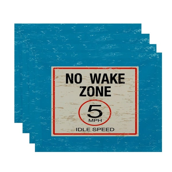 No Wake Word Print Placemats (Set of 4)