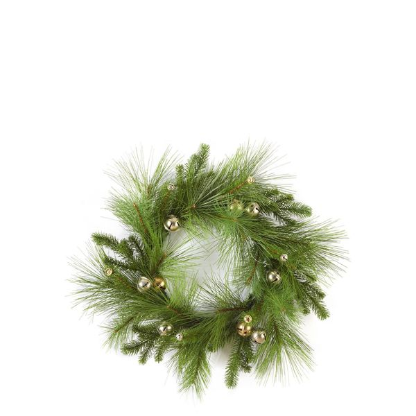 Classic Christmas Collection 24-inch Pine and Jingle Bells Wreath (Pack of 2)
