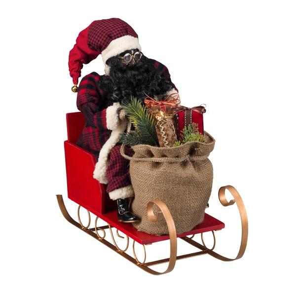 "20"" AA Santa in Sleigh"