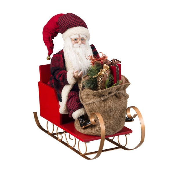 "20"" Santa in Sleigh"