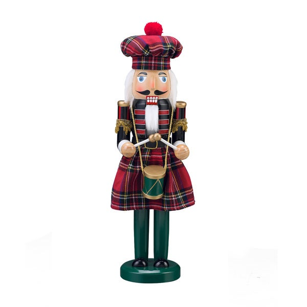 "15"" Tartan Plaid Nutcracker"