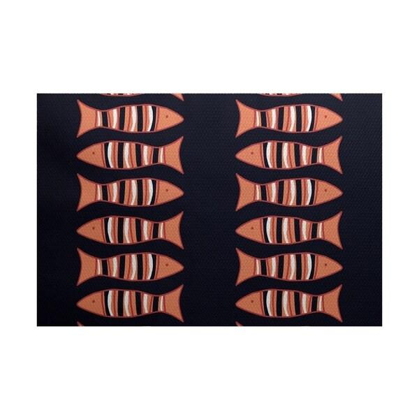 Something's Fishy Animal Print Rug (4' x 6')
