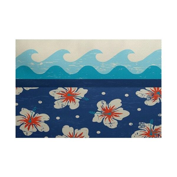 Hang Ten Floral Print Rug (3' x 5')