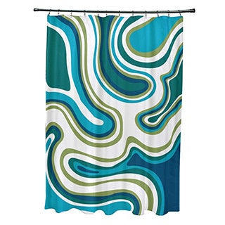 Agate Geometric Print Shower Curtain