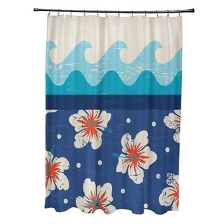 Hang Ten Floral Print Shower Curtain
