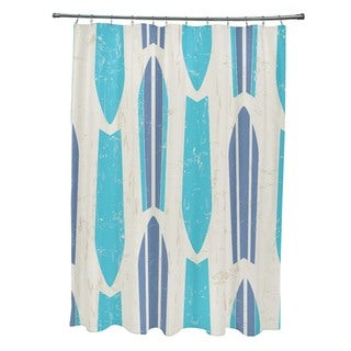 Dean Geometric Print Shower Curtain