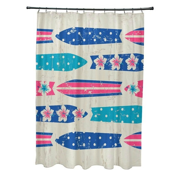 Jan Geometric Print Shower Curtain
