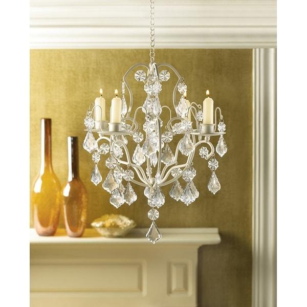 Elegant Crystal and Candle Hanging Chandelier 16687225