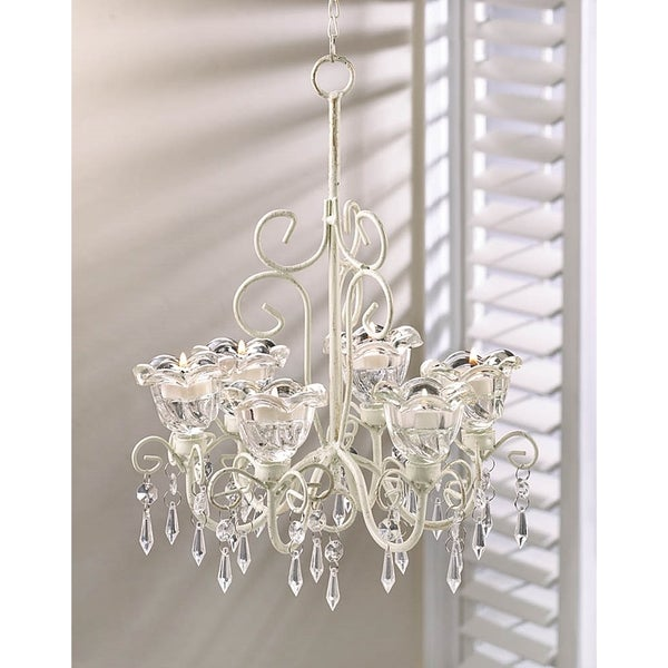 Elaborate Crystal and Candle Hanging Chandelier 16687228