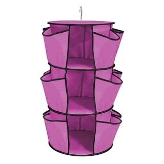 Azalea Pink Durable hanging Closet Organizer