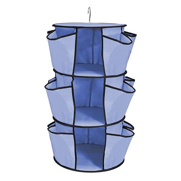 Columbine Blue Durable hanging Closet Organizer