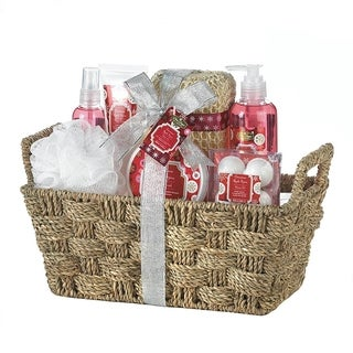 Spa Bath and Body Cinnamon and Apple Scent Gift Basket