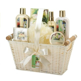 Spa Bath and Body Minted Jasmine Scent Gift Basket