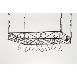 Concept Housewares Black Wire Pot Rack