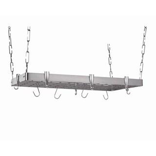 Concept Housewares Rectangular Ceiling Pot Rack Stainless Steel