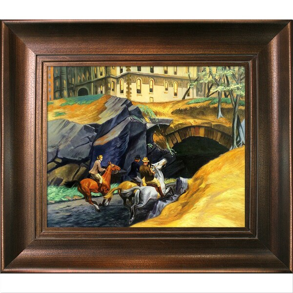 Edward Hopper 'Bridle Path, 1939' Hand Painted Framed Canvas Art