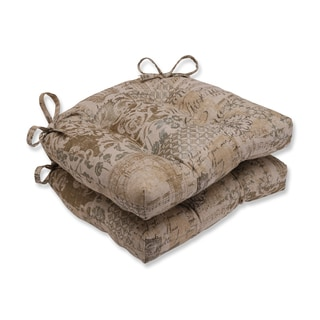 Pillow Perfect Documented Vermeil Reversible Chair Pad (Set of 2)