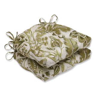 Pillow Perfect Java Tree Moss Reversible Chair Pad (Set of 2)