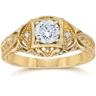14k Yellow Gold 5/8 ct TDW Diamond Vintage Engagement Ring (H-I/I1-I2)