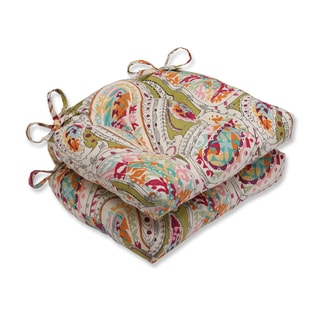 Pillow Perfect Franz Rainbow Reversible Chair Pad (Set of 2)