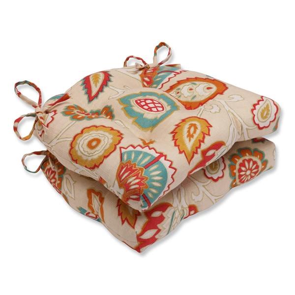 Pillow Perfect Myanmar Fiesta Reversible Chair Pad (Set of 2)