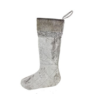 Vintage Collection 20-inch Velvet Embroidered Stocking (Pack of 1)
