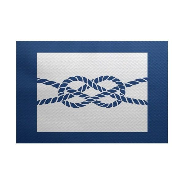 Nautical Knot Geometric Print Rug (3' x 5')