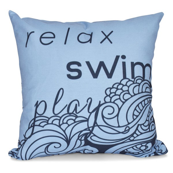 Word Print 26-inch Pillow