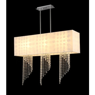 Raya 3-light White Fabric Chandelier
