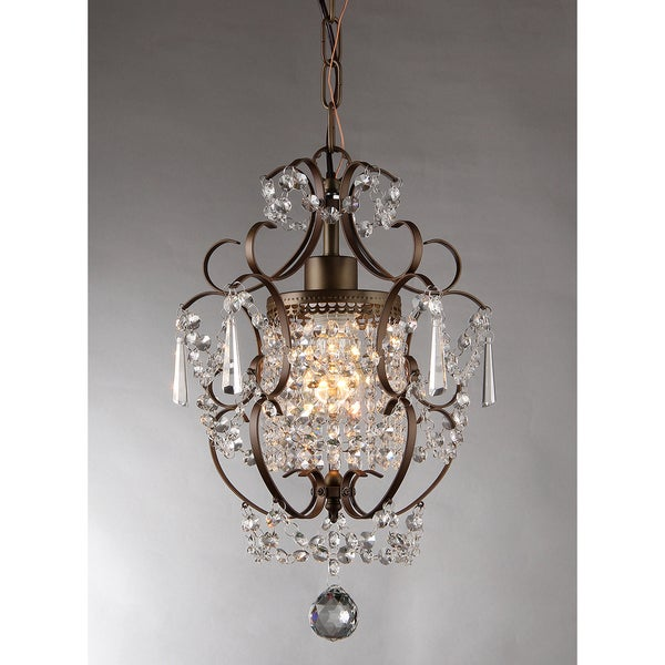 Crystal Chandelier Youtube: Rosalie 1-light Antique Bronze 11-inch Crystal Chandelier
