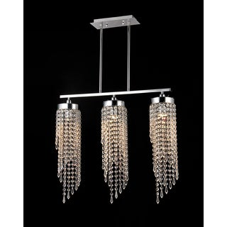 Leika 3-light Crystal 37-inch Chrome Chandelier