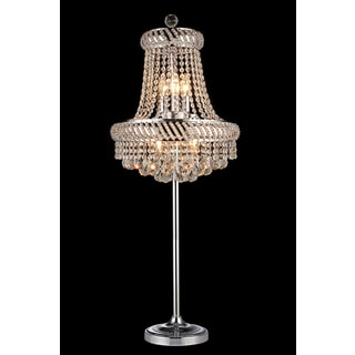 Thaleah 8-light Crystal 62-inch Chrome Floor Lamp