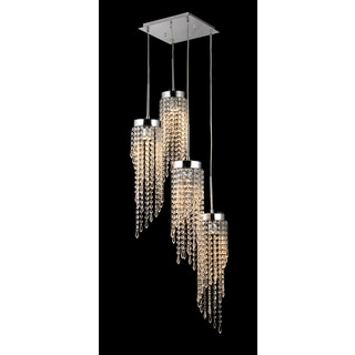 Millet 3-light Crystal 60-inch Chrome Chandelier