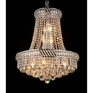 Chelsea 8-light Crystal 16-inch Chrome Chandelier