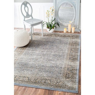 nuLOOM Traditional Ornate Petite Persian Blue Rug (9' x 12')