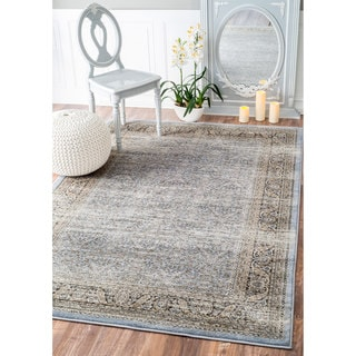 nuLOOM Traditional Ornate Petite Persian Blue Rug (8' x 10')