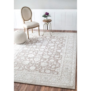 nuLOOM Traditional Raised Adileh Cream Rug (5' x 8')