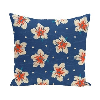 Hibiscus Blooms Floral Print 14 x 20-inch Outdoor Pillow