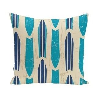 Dean 20-inch Geometric Print Outdoor Pillow