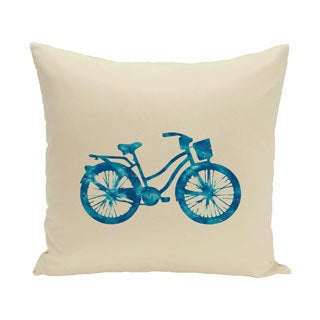 Life Cycle Geometric Print 20-inch Outdoor Pillow
