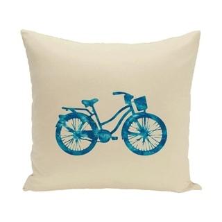 Life Cycle 14 x 20 Geometric Print Outdoor Pillow