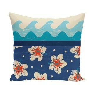 Hang Ten 20-inch Floral Print Outdoor Pillow
