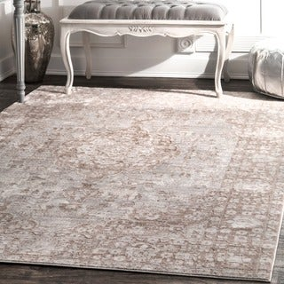 nuLOOM Traditional Intricate Medallion Beige Rug (5'3 x 7'7)