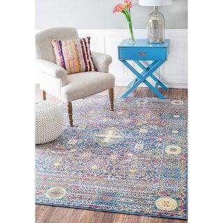 nuLOOM Traditional Intricate Persian Purple Rug (7'10 x 10'10)