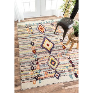 nuLOOM Moroccan Striped Diamonds Multi Rug (9' x 12')