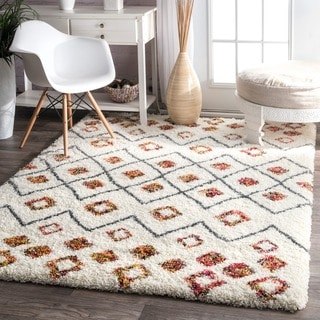 nuLOOM Sot and Plush Moroccan Variations Rainbow Trellis Shag Multi Rug (9'2 x 12')