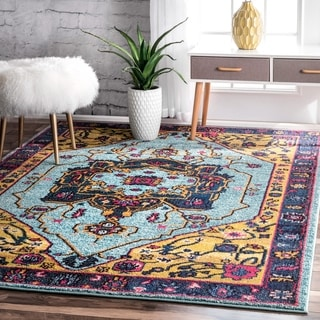 nuLOOM Traditional Vibrant Vines Ornamental Multi Rug (5'3 x 7'7)