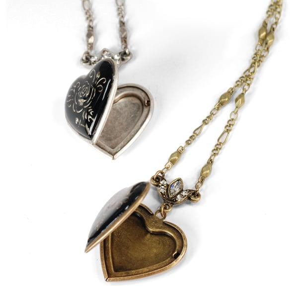 Sweet Romance Heart Locket Pendant Necklace
