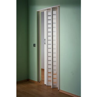 Homestyle Metro Aluminum with Frosted Squares Insert Folding Door